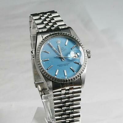 $ CDN2343.38 • Buy ROLEX OYSTER PERPETUAL DATEJUST 16030 QUICK SET ENGINE TURNED BEZEL, Cal 3035