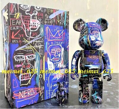 $255.88 • Buy Bearbrick Medicom 2021 Jean Michel Basquiat #7 100% 400% 2pcs Set Be@rbrick