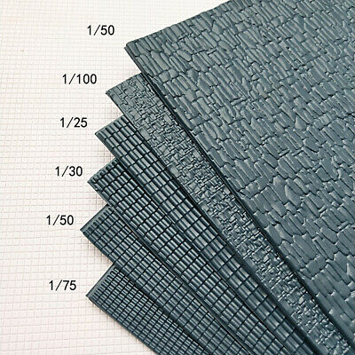 £5.03 • Buy 2X Simulation PVC Roof Tile Sheet Model Building Culture Stone Table Craft DIY