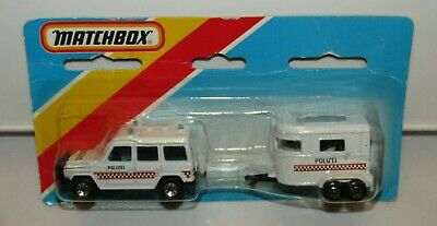 $ CDN69.09 • Buy Matchbox Superfast TP-117 Mercedes G Wagon & Pony Trailer  POLIZEI  MIB HTF