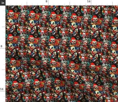 £10.57 • Buy Clowns Wicked Bad Evil Scary Circus Fears Spoonflower Fabric By The Yard