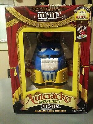 $10.99 • Buy M&M's Limited Edition Holiday Chocolate Candy Dispenser Nutcracker Sweet Blue MM