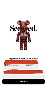 $970 • Buy BE@RBRICK Faze Clan 1000% • Medicom NWT • Confirmed Order