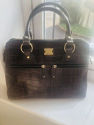£50 • Buy Modalu London Pippa Bag Brown / Taupe Croc Effect Leather Immaculate Condition.
