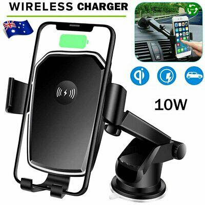 AU20.92 • Buy Qi Wireless Fast Charging Car Charger Mount Holder Stand 2 In 1 For Cell Phone