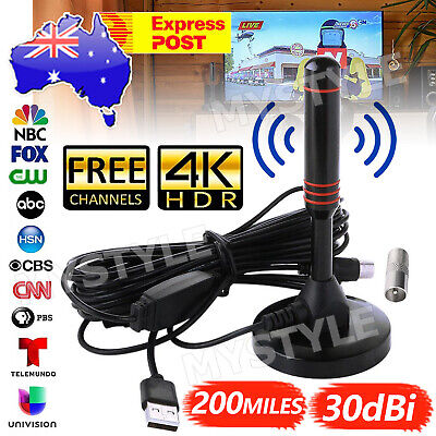 AU12.95 • Buy Portable TV Antenna Indoor Outdoor Digital HD Freeview Aerial Ariel 200Mile AU