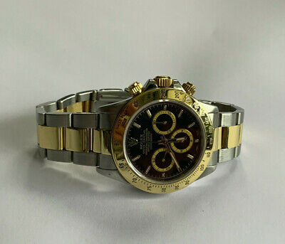 $ CDN20811.15 • Buy Rolex Daytona 16523 Stainless Steel And Gold Watch Black Dial Zenith 1997