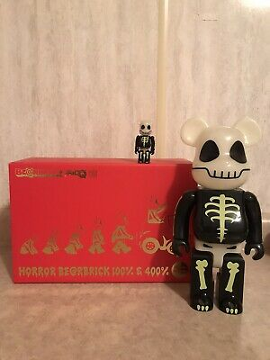$200 • Buy HORROR Glow In The Dark 400% + 100% BEARBRICK Be@rbrick Set 2007
