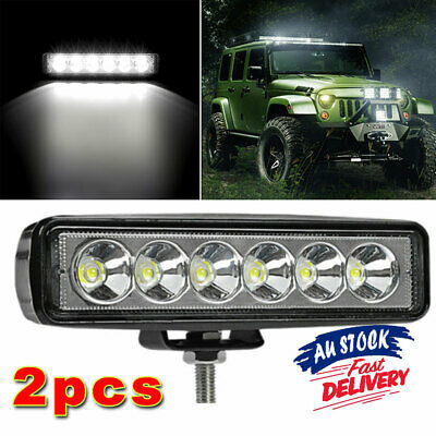 AU22.99 • Buy 1 Pair Bar Flood Led Work Light Offroad Waterproof 6Inch Reverse 4WD Fog Lights