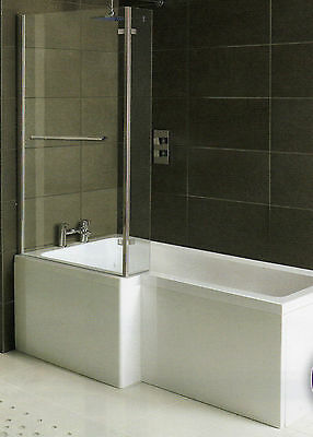 £619 • Buy Whirlpool Shower Bath L Shaped Left Hand 'MATRIX' 1500mm With 10 Jet System
