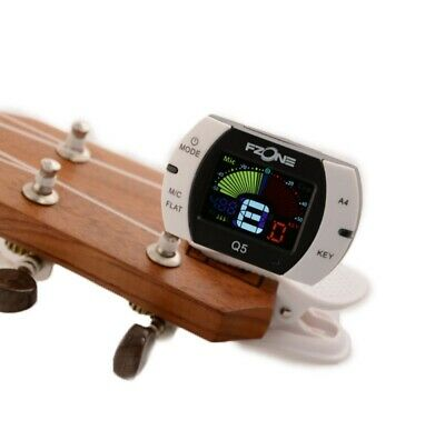 $ CDN17.10 • Buy Chromatic Clip-on Guitar Tuner For Electric Violin Ukulele Calibration Machine
