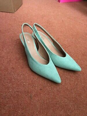 Evans Suede Duck Egg Sling Back Womens Shoes Size 6 NEW • 7£