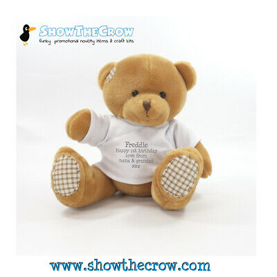 £9.99 • Buy 25cm Ginger Harley Bear With A Personalised T-shirt