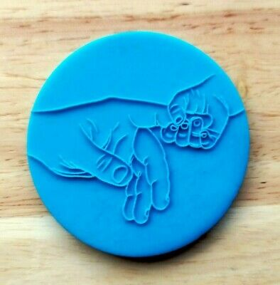 £6.50 • Buy Father's Day, Holding Hands Cookie Fondant Stamp Embosser - 113