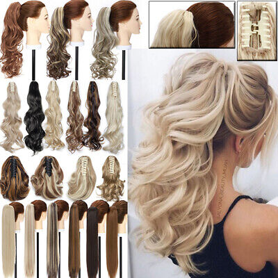 £11.29 • Buy UK Hairpiece Ponytail Claw Clip In Hair Extensions Pony Tail Hair Piece As Human