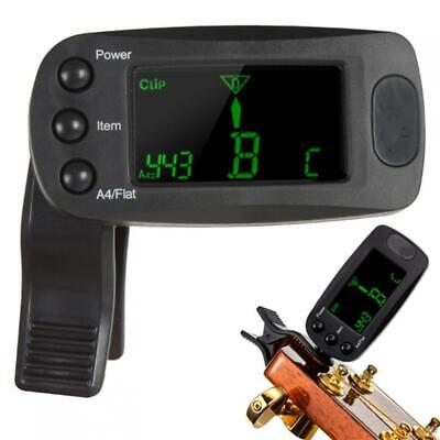 $ CDN14.16 • Buy Meideal T83GW Practical Guitar Bass Tuner Mini LCD Clip-on Digital Auto Tuner