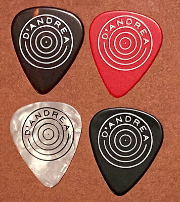$ CDN16.23 • Buy Vintage Guitar Picks - D'Andrea Bulls Eye 4 Pick Lot, Red, Tort, Black, Pearl