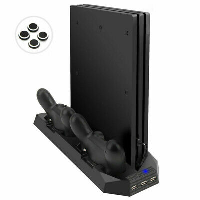 AU18.08 • Buy 2 Controller Charger Dock Station Cooling Fan Vertical Stand For PS4 Pro Gamepad