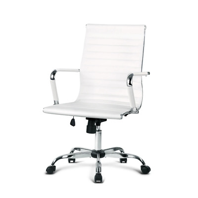 AU98.95 • Buy Artiss Gaming Office Chair Computer Desk Chairs Home Work Study White Mid Back