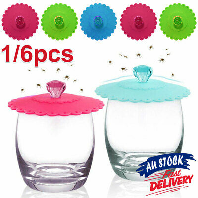 £4.43 • Buy 1/6pcs Silicone Cup Lid Anti-dust Reusable Universal Coffee Mug Cup Cover