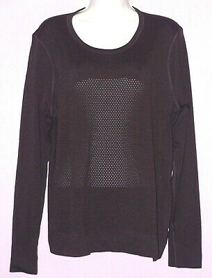 $ CDN38.20 • Buy Lululemon Women's Long Sleeve Relaxed Top Size:12 Length: 24.5  - Purple/Brown