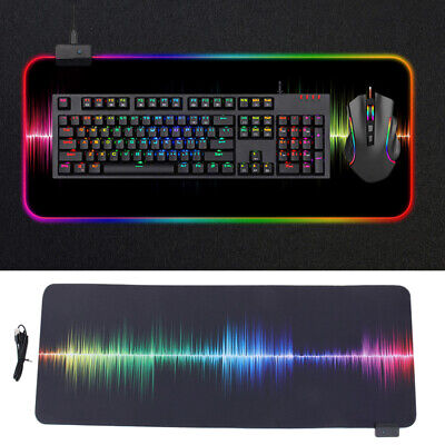 AU13.69 • Buy 7 RGB LED Gaming Mouse Pad Desk Mat Extended Anti-slip Rubber Speed Mousepad