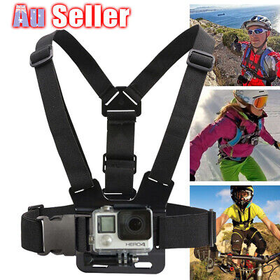 AU11.52 • Buy Compatible With GoPro Hero Adjustable Elastic Chest Camera Strap Harness Mount
