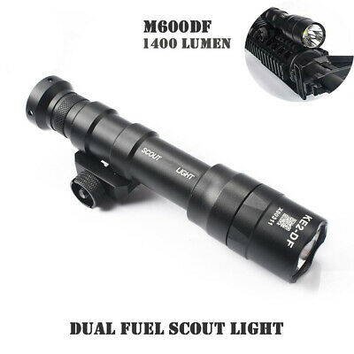 $58.63 • Buy Dual Fuel Scout Light M600DF 1400 Lumens LED Weaponlight Picatinny Rail Airsoft