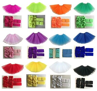AU26.99 • Buy 80s Neon Leg Warmers Tutu Sweatband Set 1980s Costume Hens Party Fancy Dress
