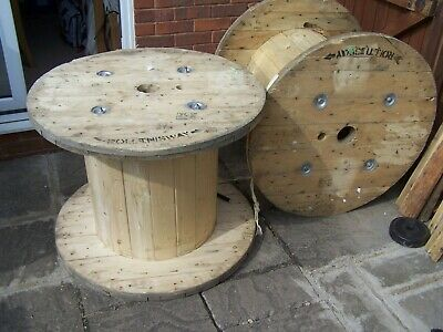 £40 • Buy New Size 90 X 70 Cm Large Wooden Cable Reel Retro Garden Coffee Table Worcester