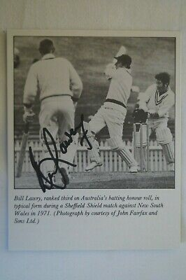 AU32.35 • Buy Cricket Collectable - Australian Test Captain Photo Card - Signed Bill Lawry