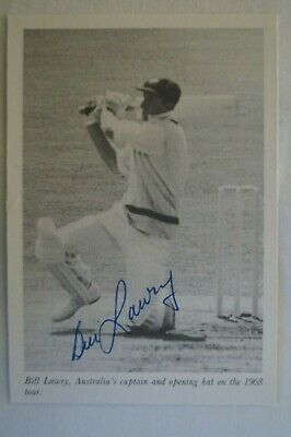 AU35.95 • Buy Cricket Collectable - Australian Test Captain Photo Card - Signed Bill Lawry