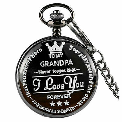 £4.49 • Buy  Vintage Pocket Watch TO MY SON Engraved Quartz Pendant With Chain Gifts UK