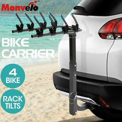 AU84.15 • Buy Monvelo Car Bike Rack Carrier 4 Rear Mount Bicycle Steel Foldable Hitch Mount