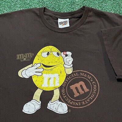 $25 • Buy M & M T Shirt Mens XL Adult Brown Candy Chocolate Yellow MM Funny Snack Food Tee