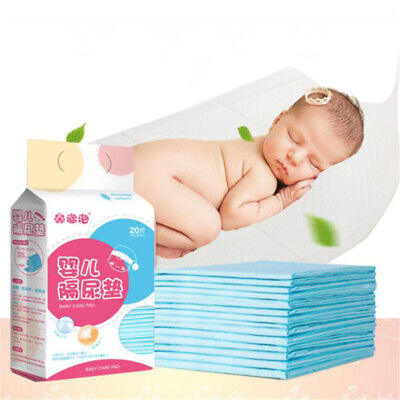 20 Pcs/bag Baby Insulation Pad Care Pad Waterproof Disposable Mattress Diaper Z • 9.07£