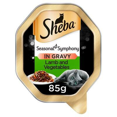 £15.19 • Buy 22 X 85g Sheba Fine Recipes Adult Wet Cat Food Tray Lamb & Vegetables In Sauce