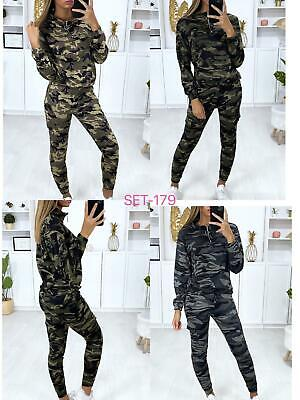 £13.99 • Buy Women' Camouflage Ladies Jogging Bottom Loungewear 2Pcs  Tracksuit Top New