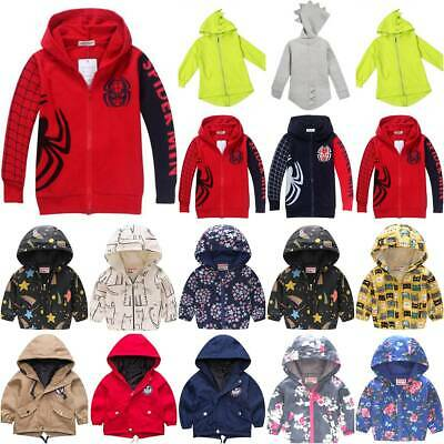 £10.59 • Buy Kids Boys Girls Hooded Jacket Coat Hoodies Outerwear Toddler Warm Outfit Clothes