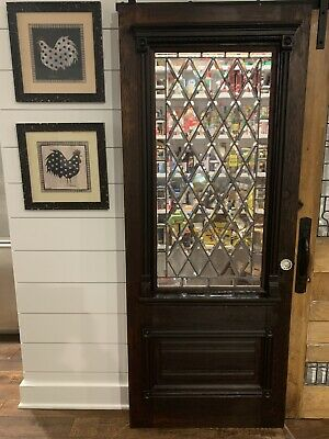 $1695 • Buy 100 Year Old Beveled Glass Door With Antique Glass Handle