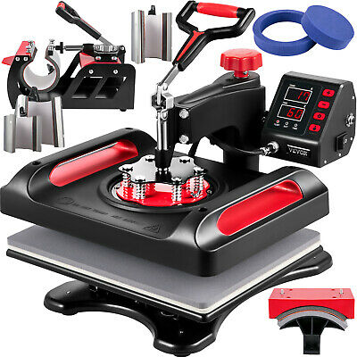 AU374.38 • Buy VEVOR Heat Press Machine Sublimation Machine 12 X 15 Inch 8 In 1 Red Heat Press