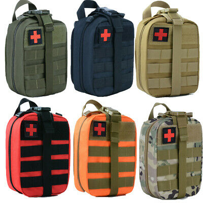 $15.59 • Buy Survival First Aid Kit Medical Emergency Military Trauma Bag Tactical IFAK Molle