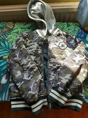 £8 • Buy Converse Boys Camouflage Jacket With Hood 8 - 10 Years Old