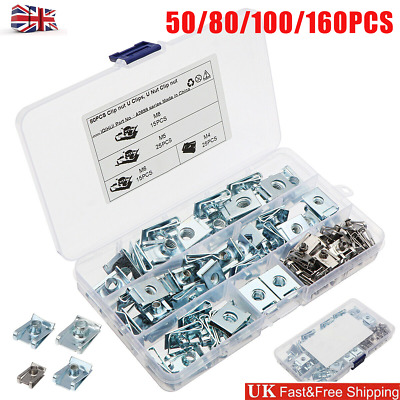 £11.09 • Buy 50-160Pc U Nut SPIRE CLIPS CHIMNEY NUTS M4 M5 M6 M8 Speed Fasteners Assorted Kit