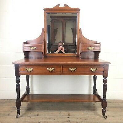 £495 • Buy Antique Mirror Back Dressing Table (M-1984) - FREE DELIVERY*