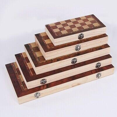 £12.39 • Buy Large Wooden Chess Set Folding Chessboard Pieces Wood Board Kid Gift Toy HOT NEW