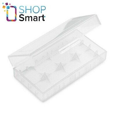 £2.71 • Buy Battery Box Case For 2 18650 Batteries Storage Clear Plastic New
