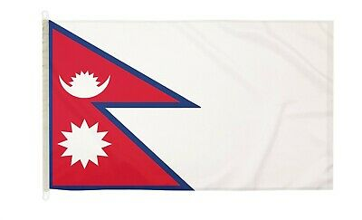 £42.99 • Buy DuraFlag Nepal 5ft X 3ft Flag With Clips And Hooks