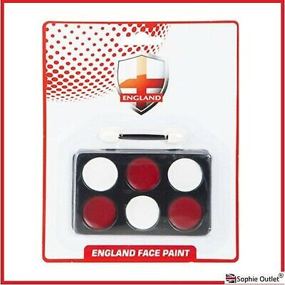£2.99 • Buy Red White FACE PAINT England Flag St Geroge Day Cricket Rugby Fancy Dress 329017