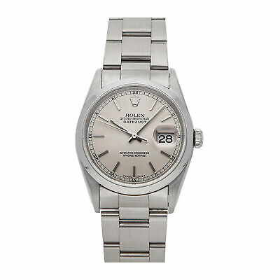 $ CDN6400.64 • Buy Rolex Datejust Auto 36mm Steel Mens Oyster Bracelet Watch 16200